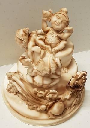 the nice mythology of sri lanka  - Cake by Majoieta CD