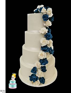 Wedding Rose Cake ! - Cake by Iwona Sobejko