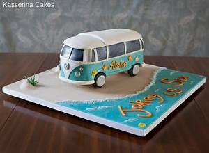 Gravity defying camper van - Cake by Kasserina Cakes