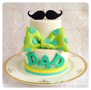 Moustache & Bow Tie Father's Day Cake - Cake by SimplyScrumptious