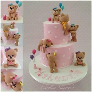 Climbing Teddies Birthday Cake - Cake by Caroline Nagorcka
