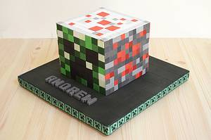 Minecraft block - Cake by The Chain Lane Cake Co.