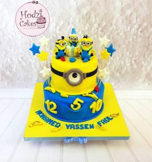 Minions Cake💙💛💙 - Cake by Hend Taha-HODZI CAKES