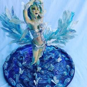 Silfide wind spirit!  - Cake by Maythé Del Angel