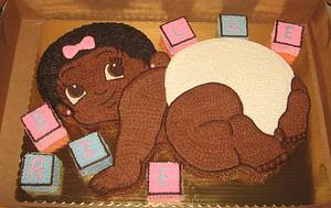 Crawling baby - Cake by Monica Seay