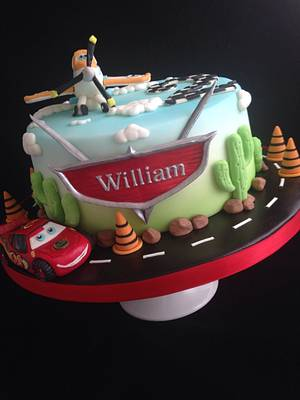 Lightning McQueen and Dusty Crophopper cake  - Cake by Melanie Jane Wright