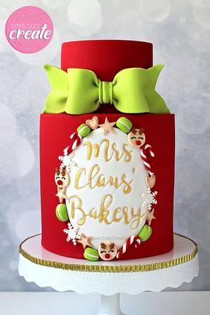 Mrs Claus' Bakery Cake Tutorial - Cake by Love Cake Create