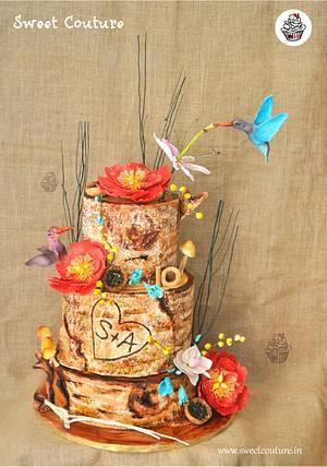 Rustic Love  - Cake by Sunaina Sadarangani Gera