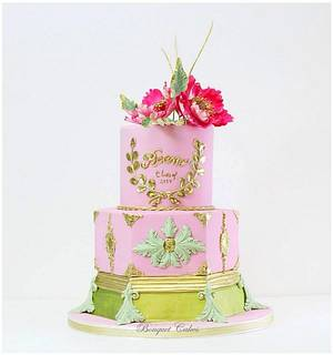 Spring colors cakes - Cake by Ghada _ Bouquet cakes