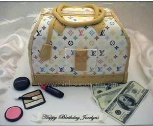 Louis Vuitton Purse Cake  - Cake by PinkSugarArt