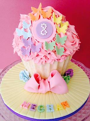 Giant Butterfly Cupcake - Cake by Sally Jane Cake Design