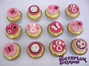 Very Girly Football Themed Cupcakes - Cake by Sam Harrison