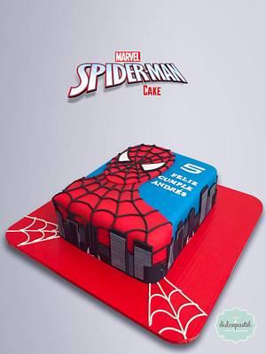 Spiderman Cake - Torta Hombre Araña - Cake by Dulcepastel.com
