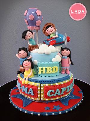 Birthday Cake with family - Cake by Ladadesigns