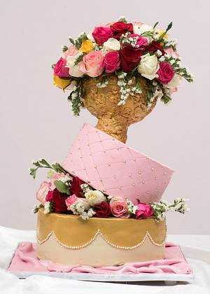 Wedding cake  - Cake by Luscious Bakes by Rashmi
