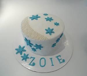 Winter Cake - Cake by Sugar Me Cupcakes