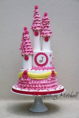 Princess castle cake - Cake by Gulnaz Mitchell