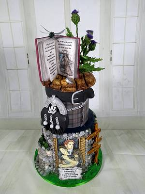 Outlander Cake - Cake by Topping Queen by Diana Adler