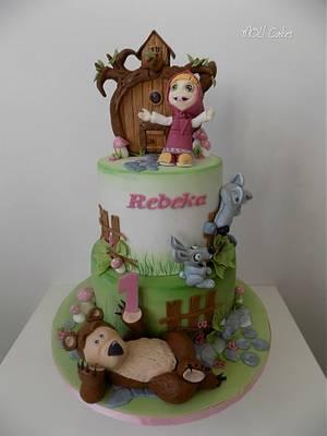 Masha and the bear - Cake by MOLI Cakes