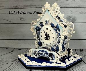Gingerbread cuckoo clock - Cake by Natasha Ananyeva (CakeVirtuoso Studio)