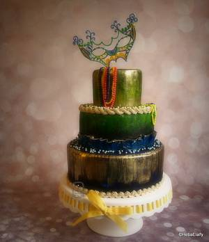 Mardi Gras Carnival Cakers Collaboration - Cake by Sweet Dreams by Heba