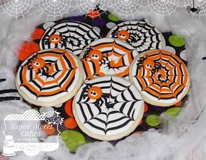 Spiderweb Cookies - Cake by Sugar Sweet Cakes