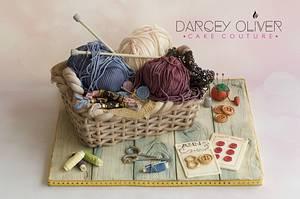 Knitting Basket - Cake by Sugar Street Studios by Zoe Burmester