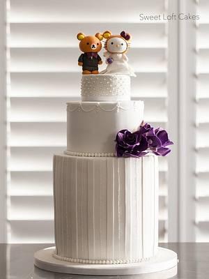 Hello Kitty + Rilakkuma Wedding Cake - Cake by Heidi