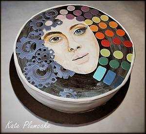 Face hand painted - Cake by Kate Plumcake
