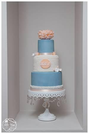 Peach Peony - Cake by Little Miss Cupcake