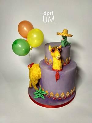 Crazy lama - Cake by dortUM
