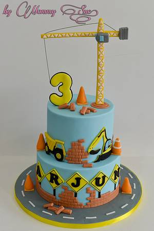 Construction Themed Cake - Cake by Mommy Sue