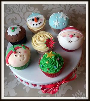 Christmas Themed Cupcakes - Cake by Dollybird Bakes