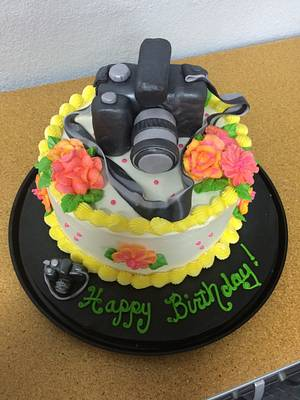 Say Cheese - camera cake - Cake by PeggyT