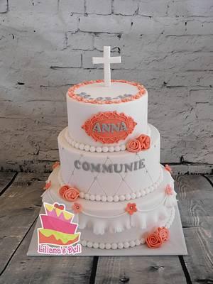 First comunion cake - Cake by Liliana Vega