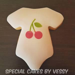 Flamingo and cherry cookies  - Cake by Vesi