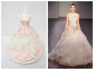 Lazaro Bridal Wedding Dress Cake Brides Around the World Cake Collaboration - Cake by Jenny Kennedy Jenny's Haute Cakes