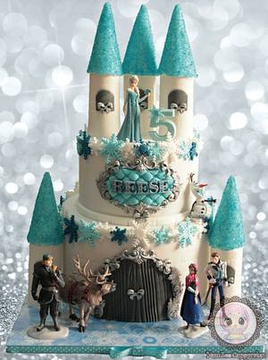 Frozen Castle cake - Cake by YumZee_Cuppycakes