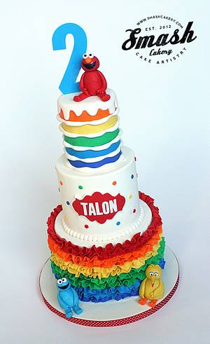 Sesame Street Rainbow Cake - Cake by Lindsey Krist