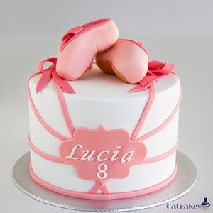 Ballet Shoes cake - Cake by Catcakes