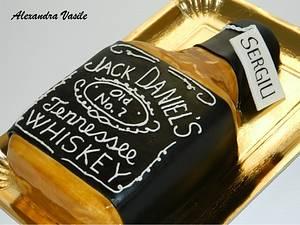 Jack Daniel's bottle cake - Cake by alexandravasile