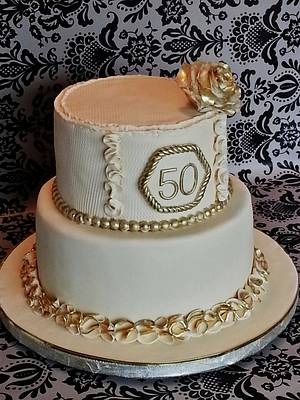 50th. Wedding Anniversary - Cake by Enza - Sweet-E