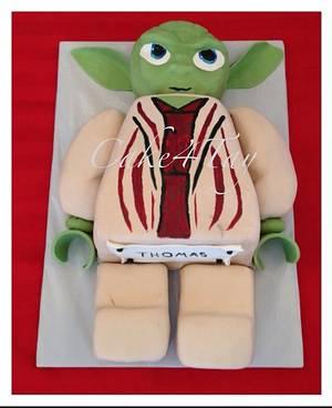 Yoda Lego Star Wars  - Cake by Angel Chang