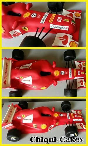 Ferrari Formula 1 - Cake by ChiquiCakes