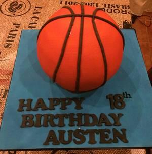 Basketball Cake - Cake by Mimi's Sweet Treats