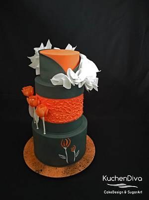 Modern tulips - Cake by KuchenDiva