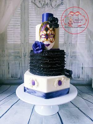 Venetian Carnival Cake Collaboration - Cake by Agatha Rogowska ( Cakefield Avenue)