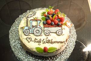 welcome cake  - Cake by Aurelia'sTartArt