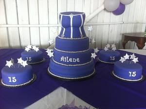 Quinceañera Corset Cake - Cake by Nikki Belleperche