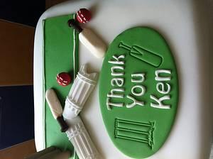 Cricket cake  - Cake by melinda